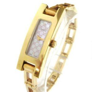 SALE! GUCCI Stainless Steel Gold Wristwatch